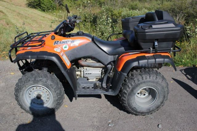 honda wheelers wheeler orange quads 2002 trx350 atv atvs backyard rancher ellsworth quad boatsandcycles monster owner