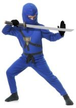 Child Blue Ninja Master Costume