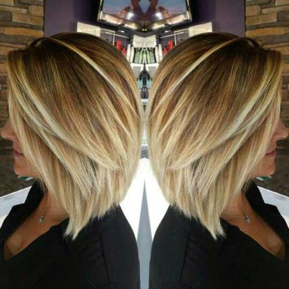 Inverted Blonde Fine Hair Bob Haircut Bob Haircuts For Fine Hair