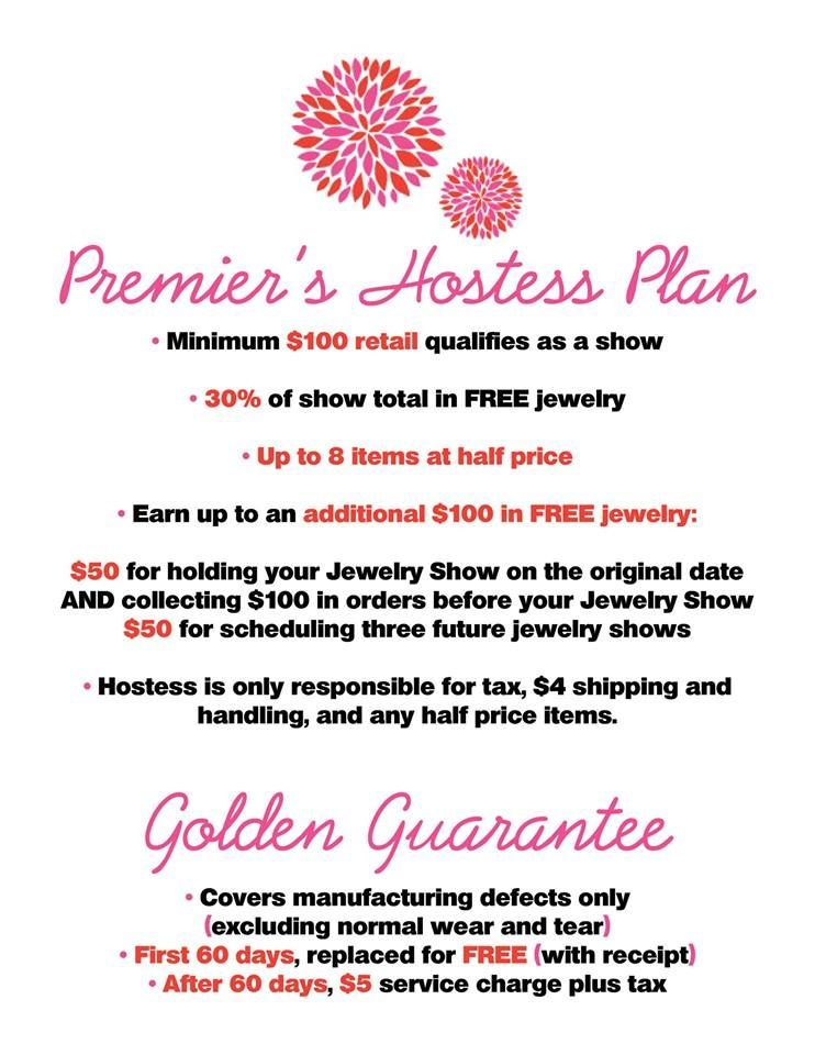 Hostess plan premier designs business tools pinterest premier designs jewelry premier for Premier designs hostess plan