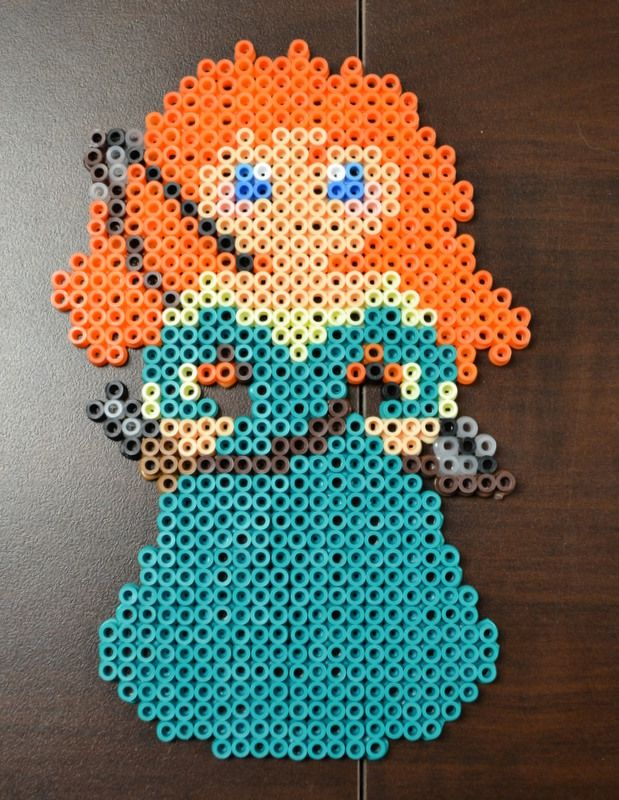 Disney Princess Merida Perler Bead Perler Beads Designs Perler Bead Patterns Perler Beads