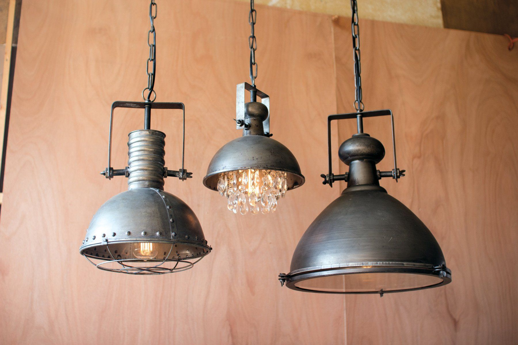 Metal Warehouse Pendant With Cage In 2019 Products Rustic