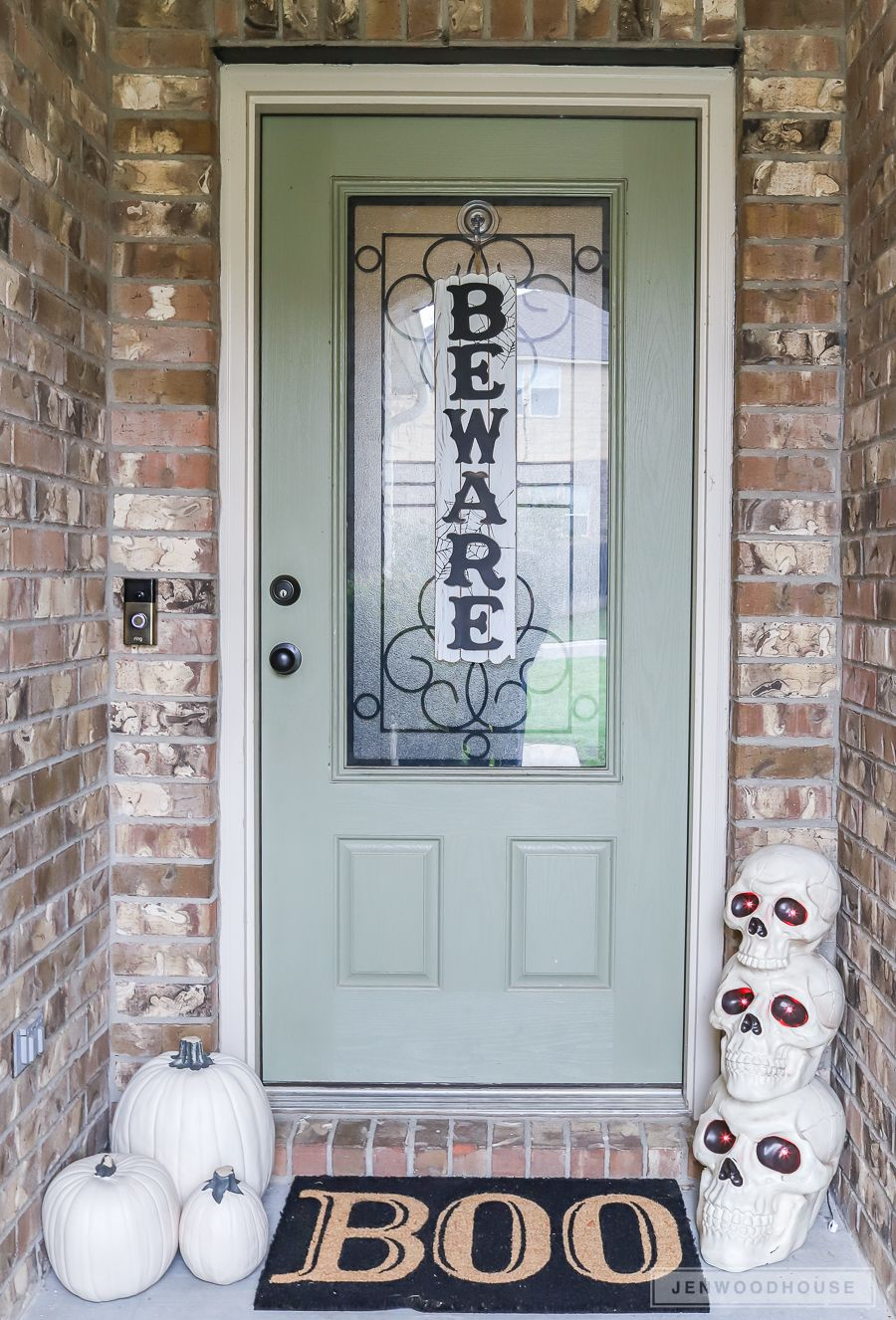 Spooky Halloween Decor For Your Front Door And Entryway