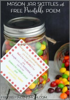 Search For Skittles Jar Teacher Appreciation Gift Mason Jar Gifts Recipes Jar Gifts Diy Teacher Gifts