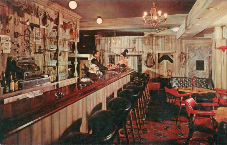 Chuckman S Collection Chicago Postcards Volume 02 Postcard Blackhawk Restaurant The Red Dog Palace Saloon Wabash At Randolph C1960s