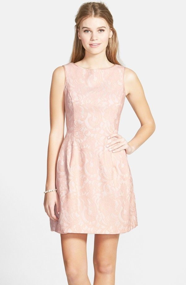 Aidan by Aidan Mattox Lace Fit & Flare Dress (Nordstrom Online Only ...