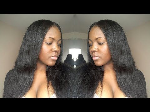 How To Watercolor Hair Jet Black Natural Looking Sew In Weave