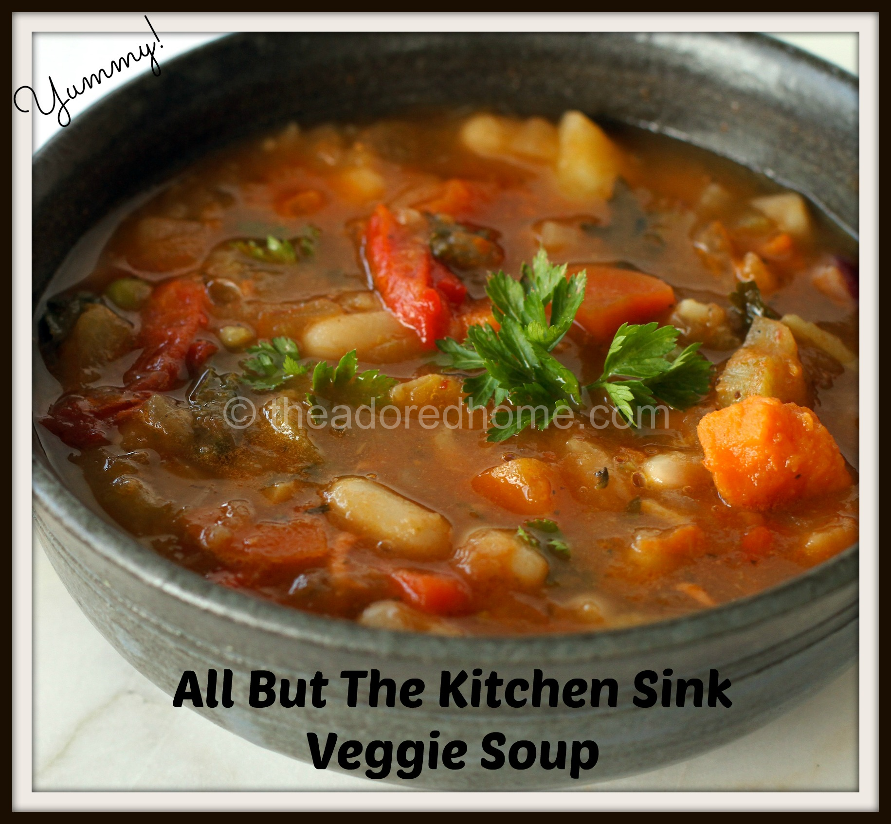 All But The Kitchen Sink Soup Recipe. Plus this blog has lots of ...