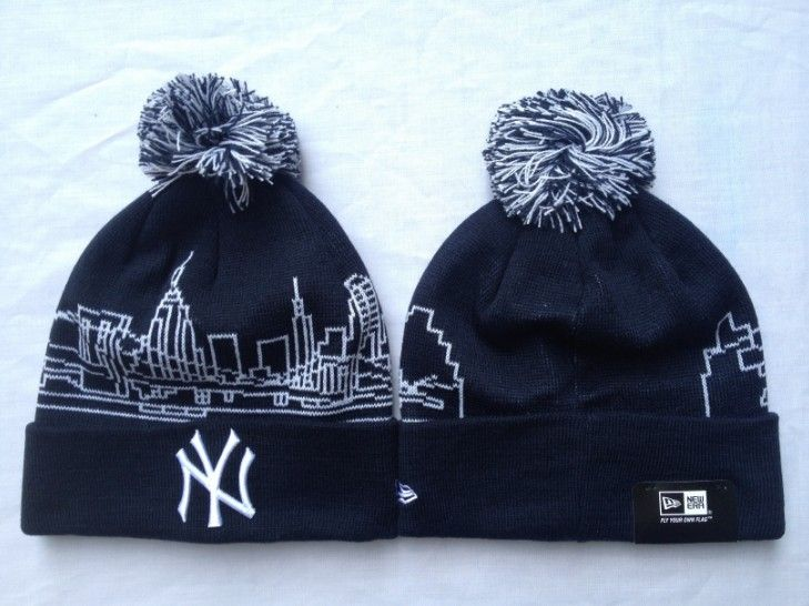 MLB Knit Caps New York Yankees New Era Beanies Hats Black 0359735! Only  $7.90USD