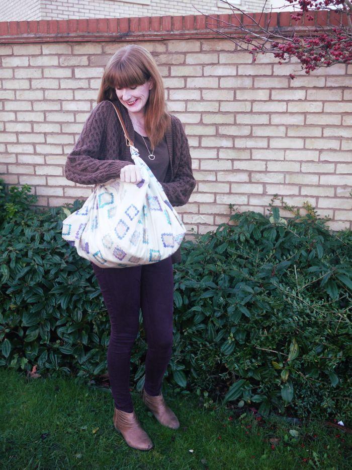 how to make a furoshiki wrap bag 3