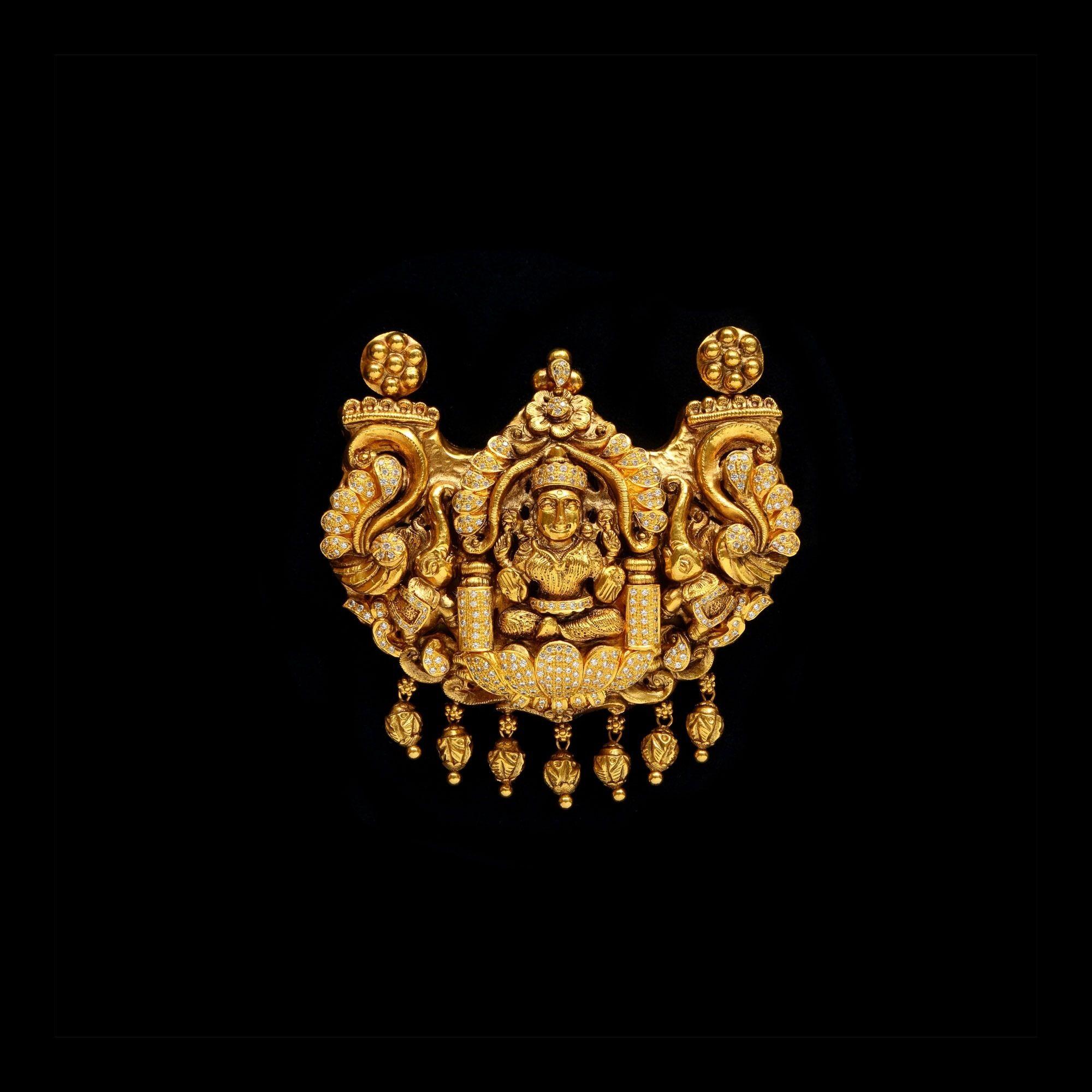 Gold Necklace brilliantcuT goldjewellery templejewellery bridal
