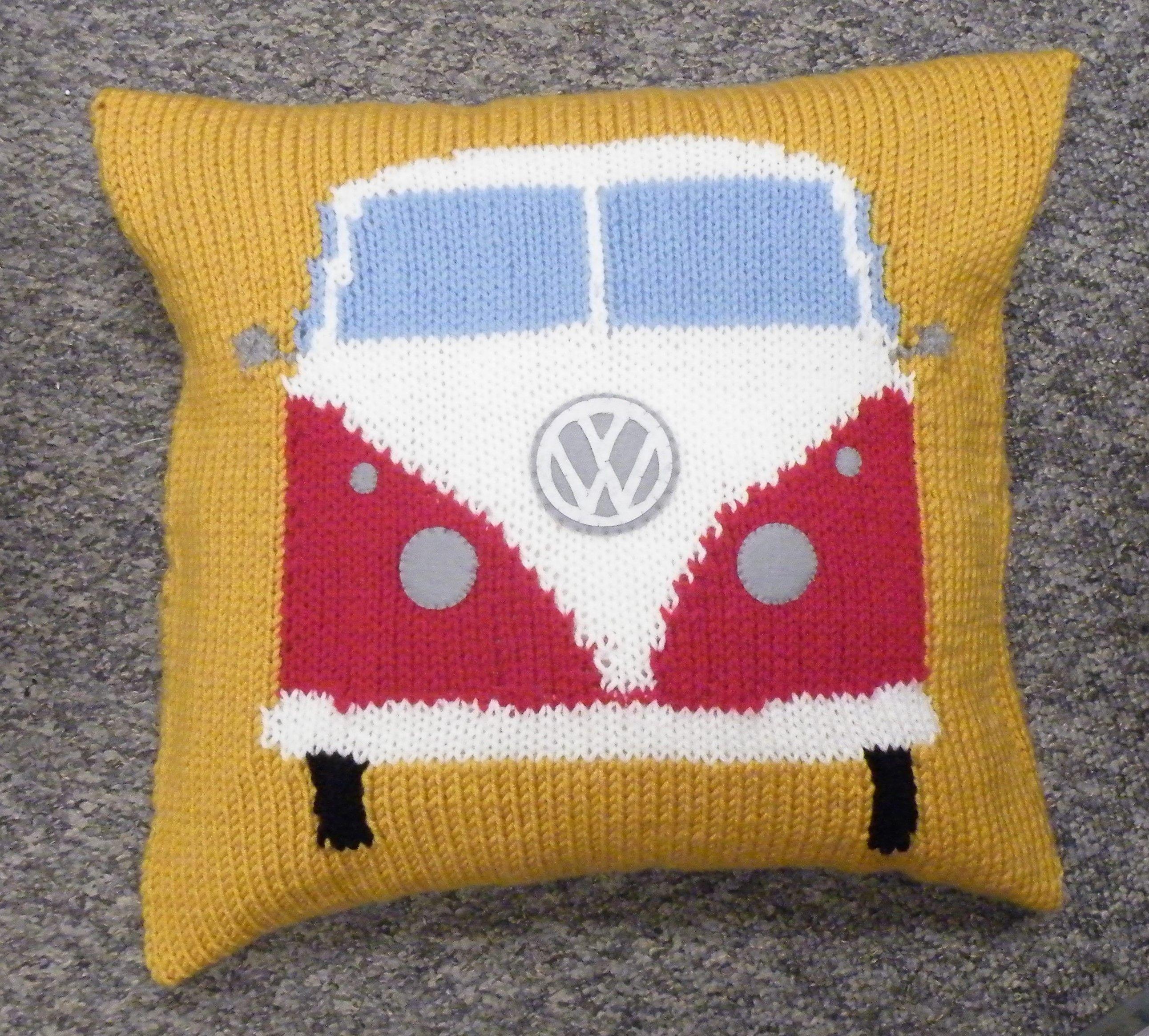 V W camper van cushion. Please go to my etsy shop