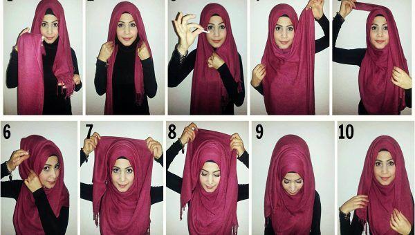 لفات حجاب تركي يقدمها موقع صور خلفيات بنات How To Wear Hijab New Hijab Style Hijab Tutorial