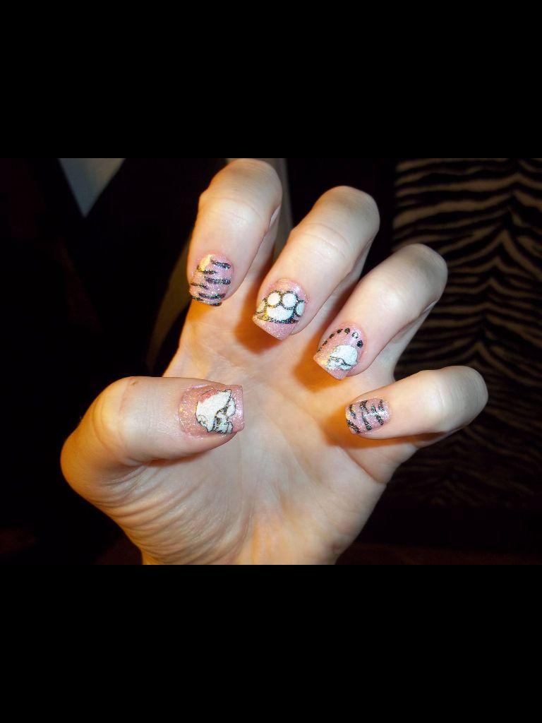 Brass knuckles, metal mulisha , zebra nails | My nail designs ...