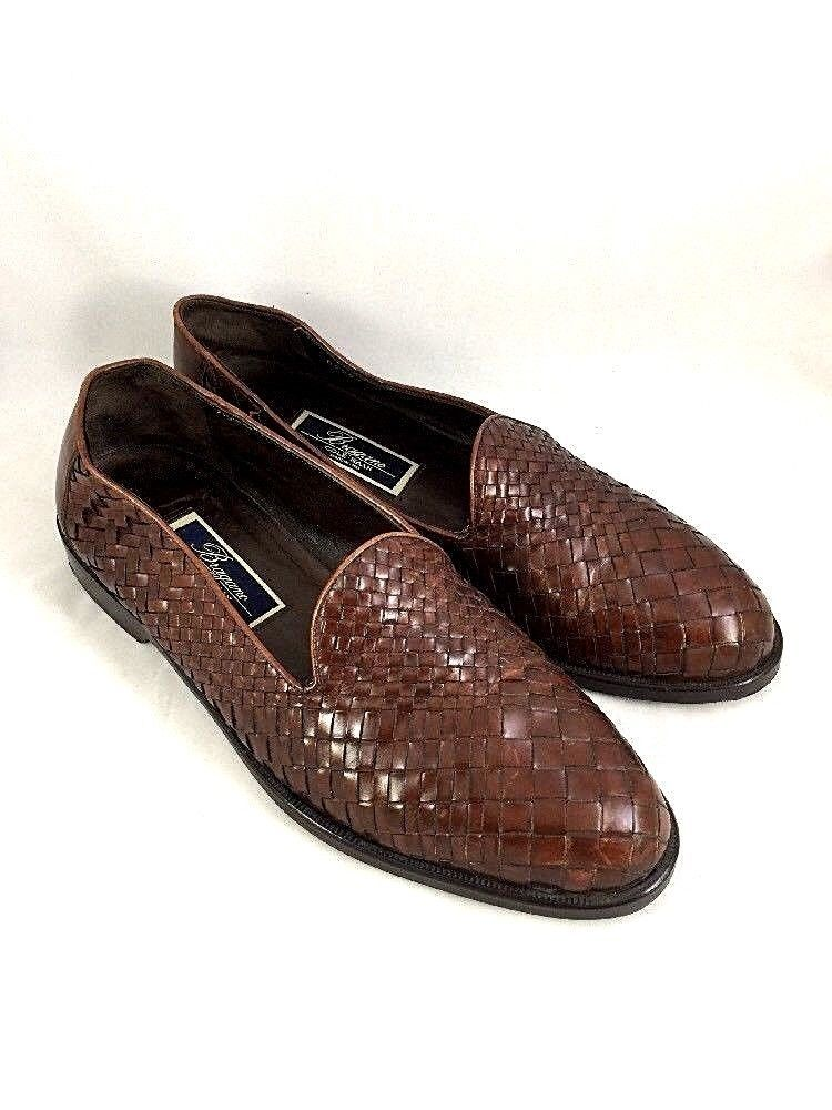 a5f68848476 Cole Haan Bragano Woven Loafer Leather Men 9.5 M Slip On Dark Brown Dress  Shoes  ColeHaan  LoafersSlipOns  Any