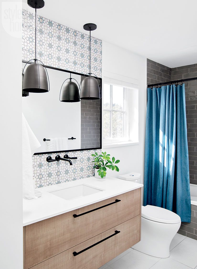 Hand-painted tiles give this bathroom a memorable touch | Imbo ...