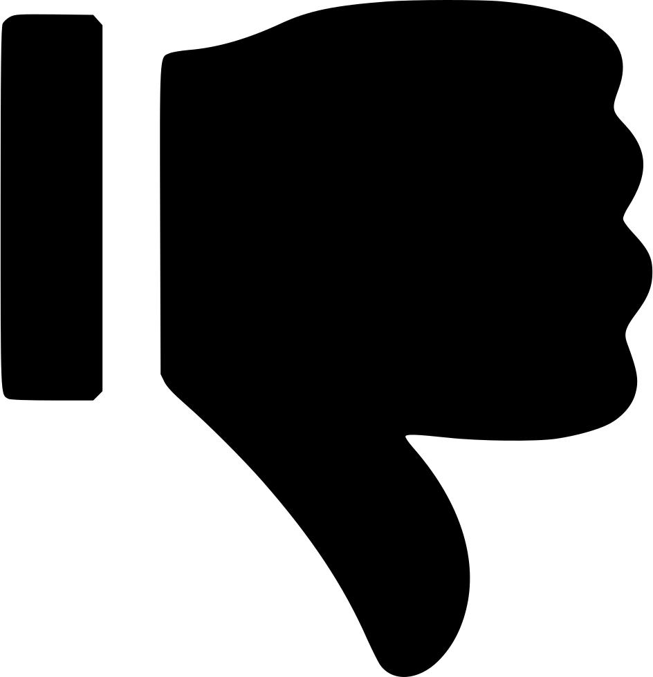 Black Dislike Thumb Pointing Down Png Image Down Symbol Thumbs Down Thumb