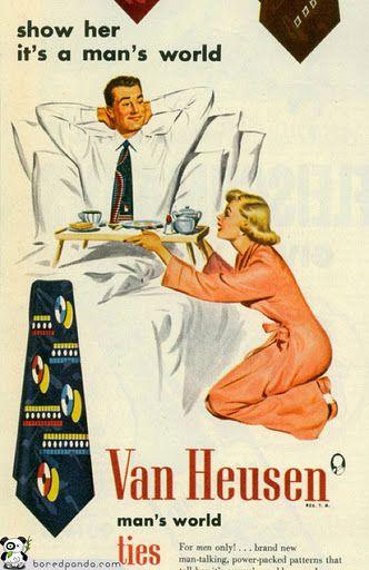 Como el machismo está presente en la publicidad.