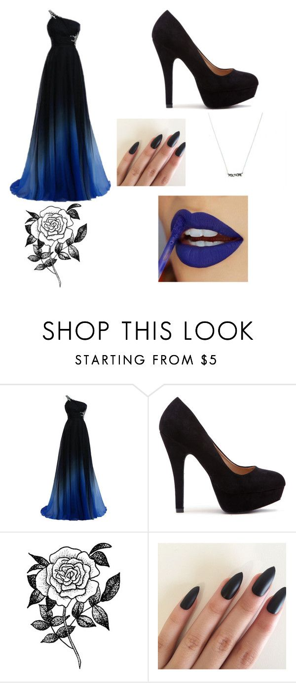 """Prom Princess"" by ashantidmilburn ❤ liked on Polyvore featuring Forever 21, BlueandBlack, contestentry, styleinsider and TopOutfits"