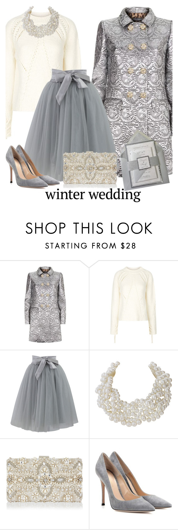 """""""True Romance: Winter Wedding 3"""" by beleev ❤ liked on Polyvore featuring Dolce&Gabbana, 3.1 Phillip Lim, Chicwish, Humble Chic, Monsoon, Gianvito Rossi and winterwedding"""