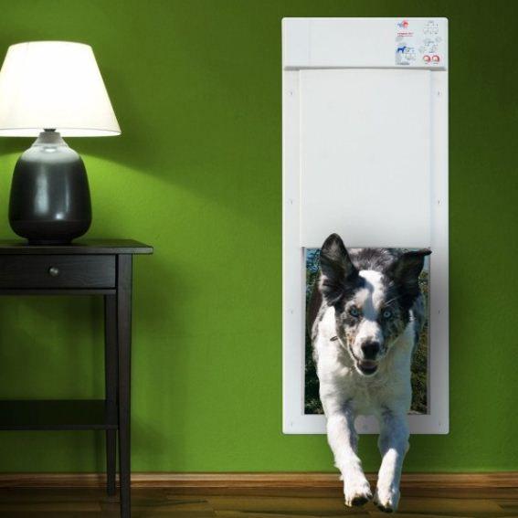 Electronic Pet Door Door Is Activated By An Ultrasonic Pet Collar