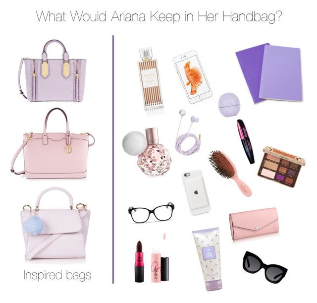 """""""Inspired: What's inside AG's Handbag?"""" by jacque-luna ❤ liked on Polyvore featuring Henri Bendel, Topshop, Bando, Christian Dior, Moleskine, Karen Walker, MAC Cosmetics, Mason Pearson, Too Faced Cosmetics and women's clothing"""