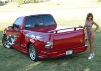 Ford Lightning Trucks Custom 60 Low Profile Tonneau Cover Truck Spoiler Ford Lightning Custom Chevy Trucks Single Cab Trucks