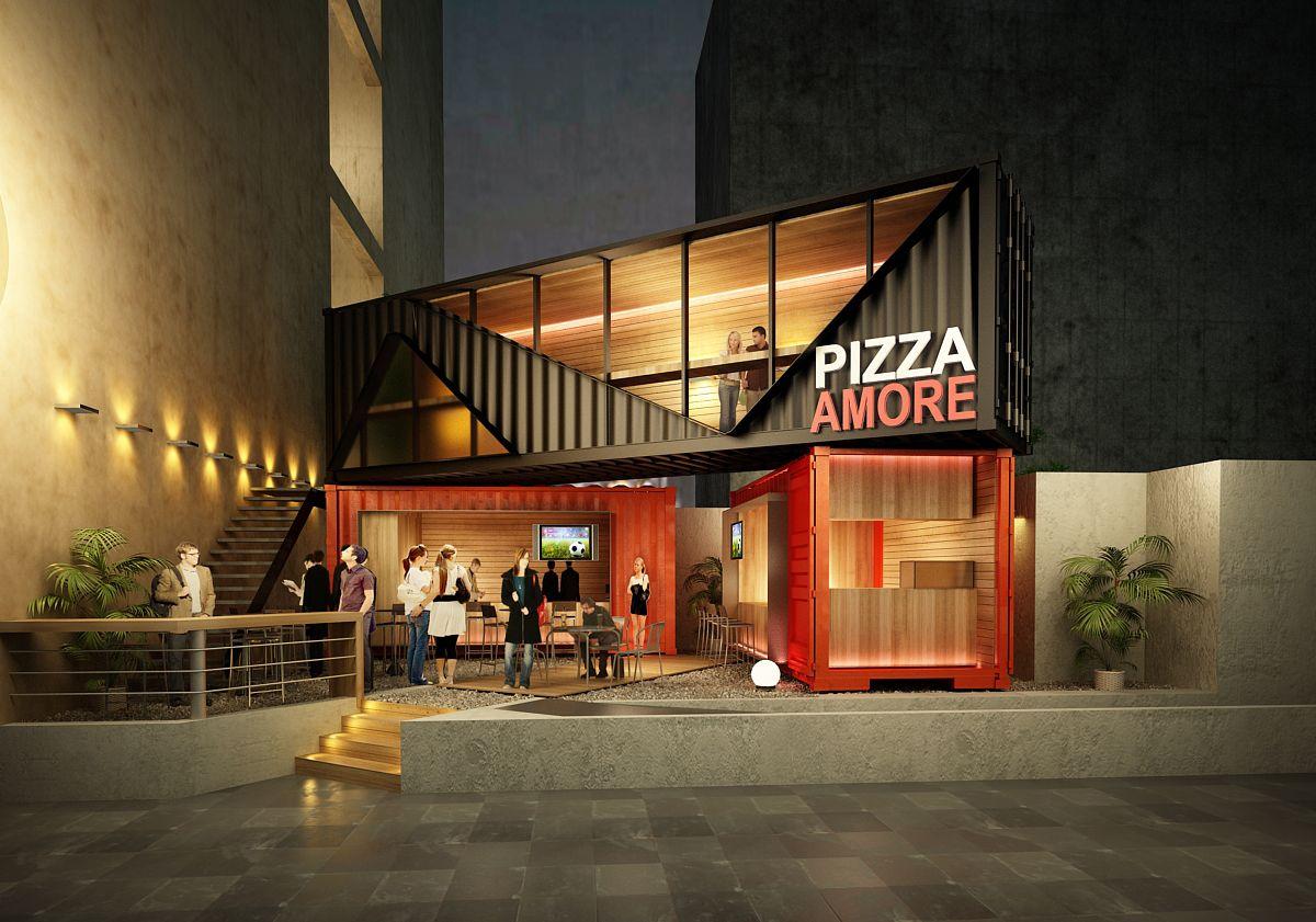 Pizza amore tare arquitectos arquitectura en 2018 for Restaurante arquitectura