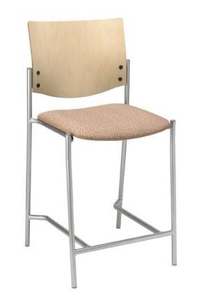 Evolve Upholstered Hip Stool With Wood Back Counter Stools With Backs Upholstered Stool Stools With Backs