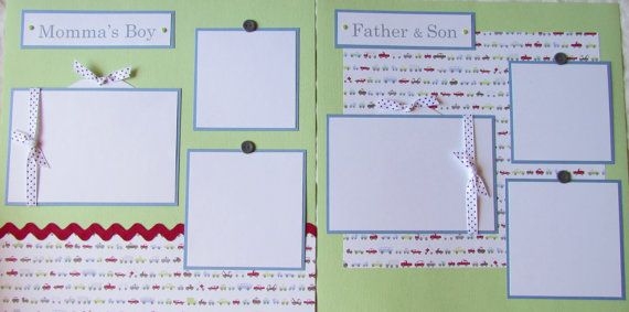20 BABY BOY premade Scrapbook Pages for 12x12 by JourneysOfJoy