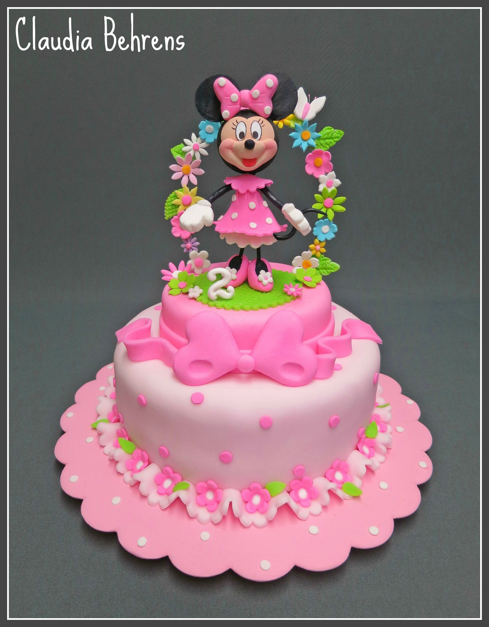 Minnie Maus Kuchen Deko Red Minnie Mouse Cake Violeta Glace Minnie