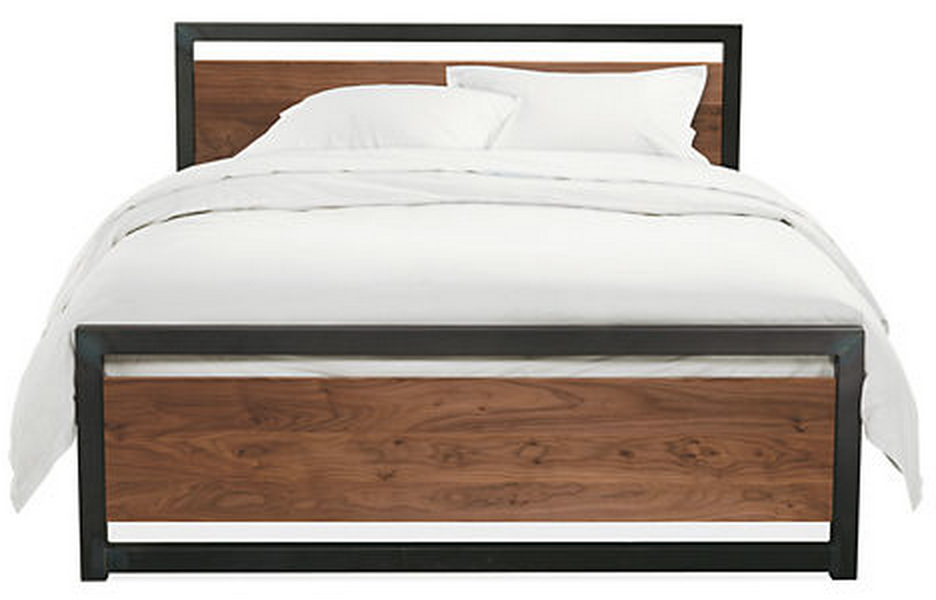 Room Board Piper Wood Bed In Natural Steel Modern
