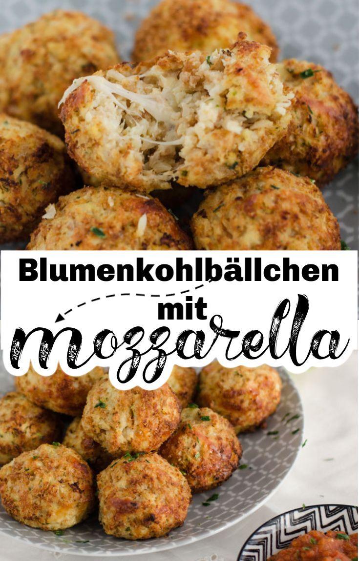 Blumenkohlbällchen mit Mozzarella