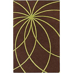 @Overstock - Add a touch of elegance to your living space with this beautiful hand-tufted wool rug. Featuring a premium wool construction, it promises comfort and durability. The rugs striking abstract design and color palette is sure to complement your decor. http://www.overstock.com/Home-Garden/Hand-tufted-Chocolate-Wool-Rug-8-x-11/5509878/product.html?CID=214117 $404.09