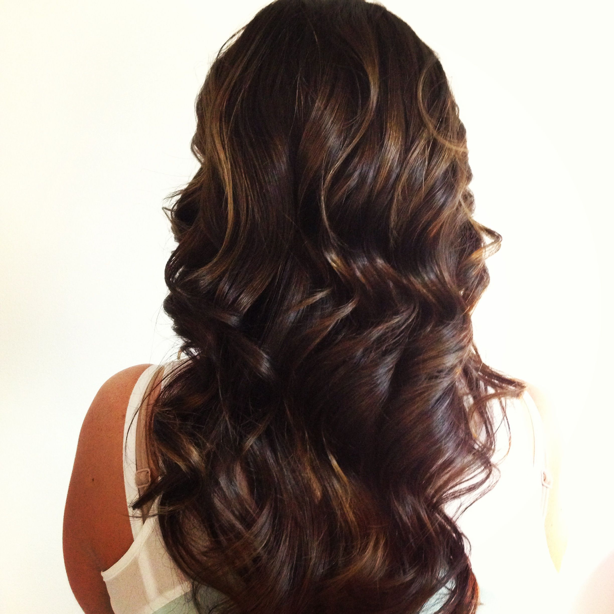Deep Chocolate Brown With Subtle Ombre Highlights Hair Color