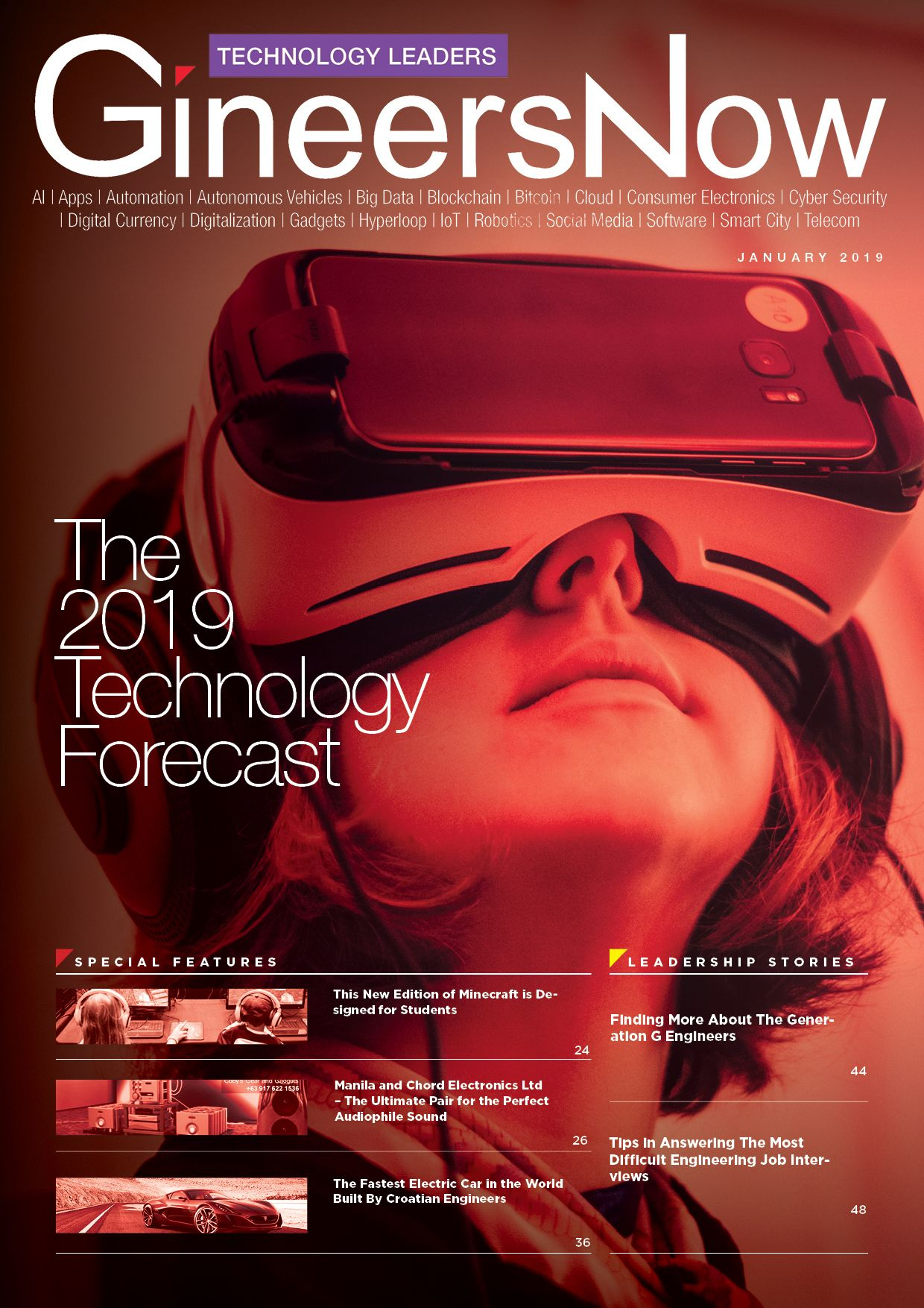2019 Technology Outlook, Analysis and Forecast