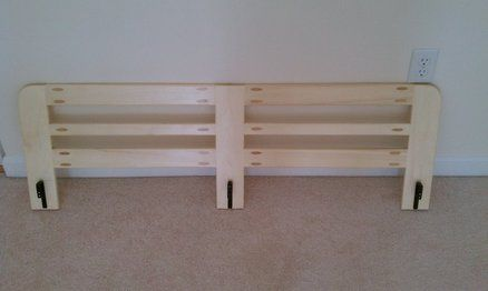 Bunk Bed Side Rail Easy Project Bunk Bed Rail Bed Side Rails