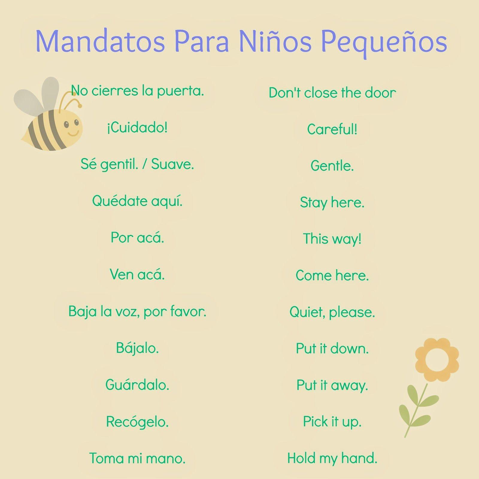 kindergarten spanish lesson plan on commands