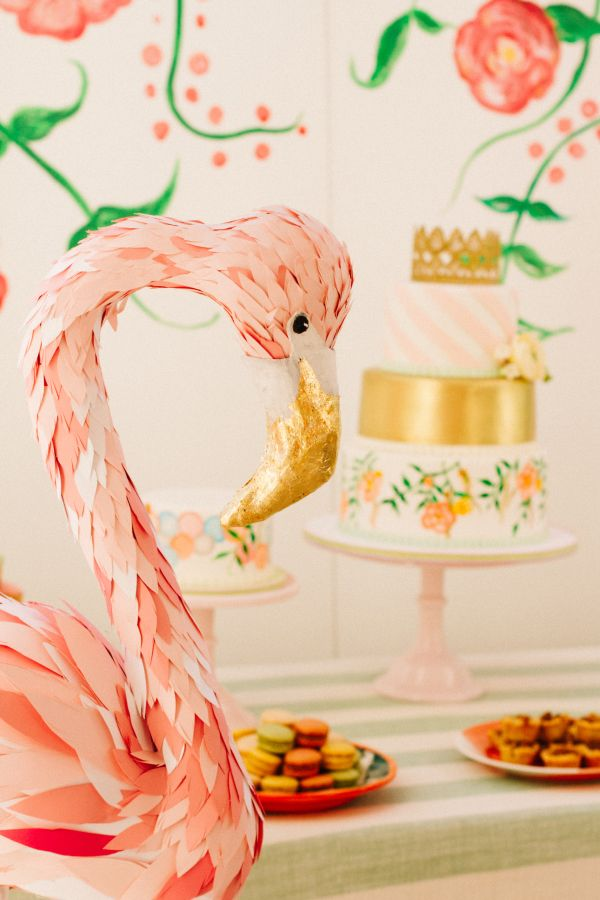 Hi Everyone I Am So Excited To Share This Stunning Flowers And Flamingos Birthday Party Styled By Love In Vintage It Is Such A Huge Breath Of Fun Festive