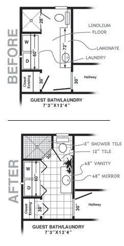 Small Bathroom Remodel Ideas I like the idea of the