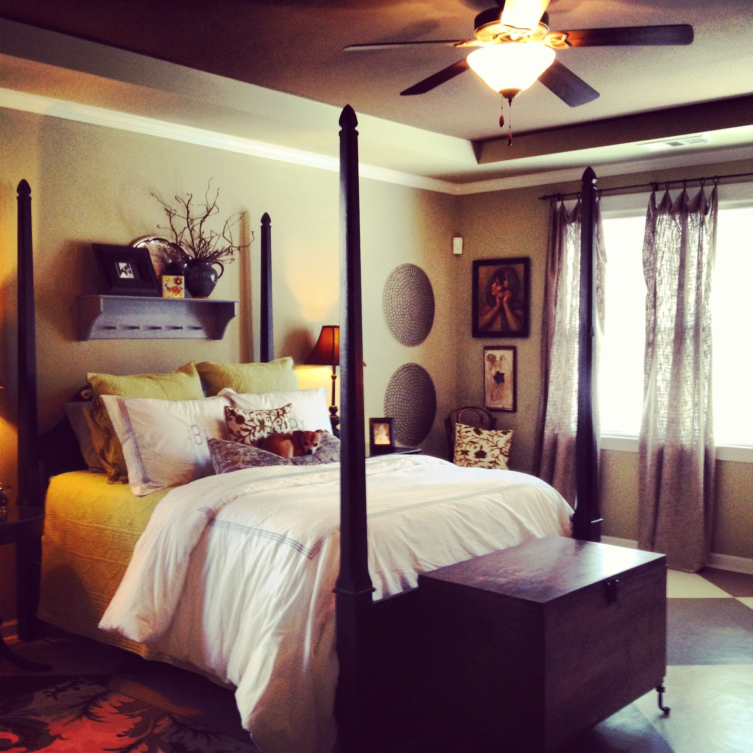This eclectic bedroom is cozy and peaceful. www ...