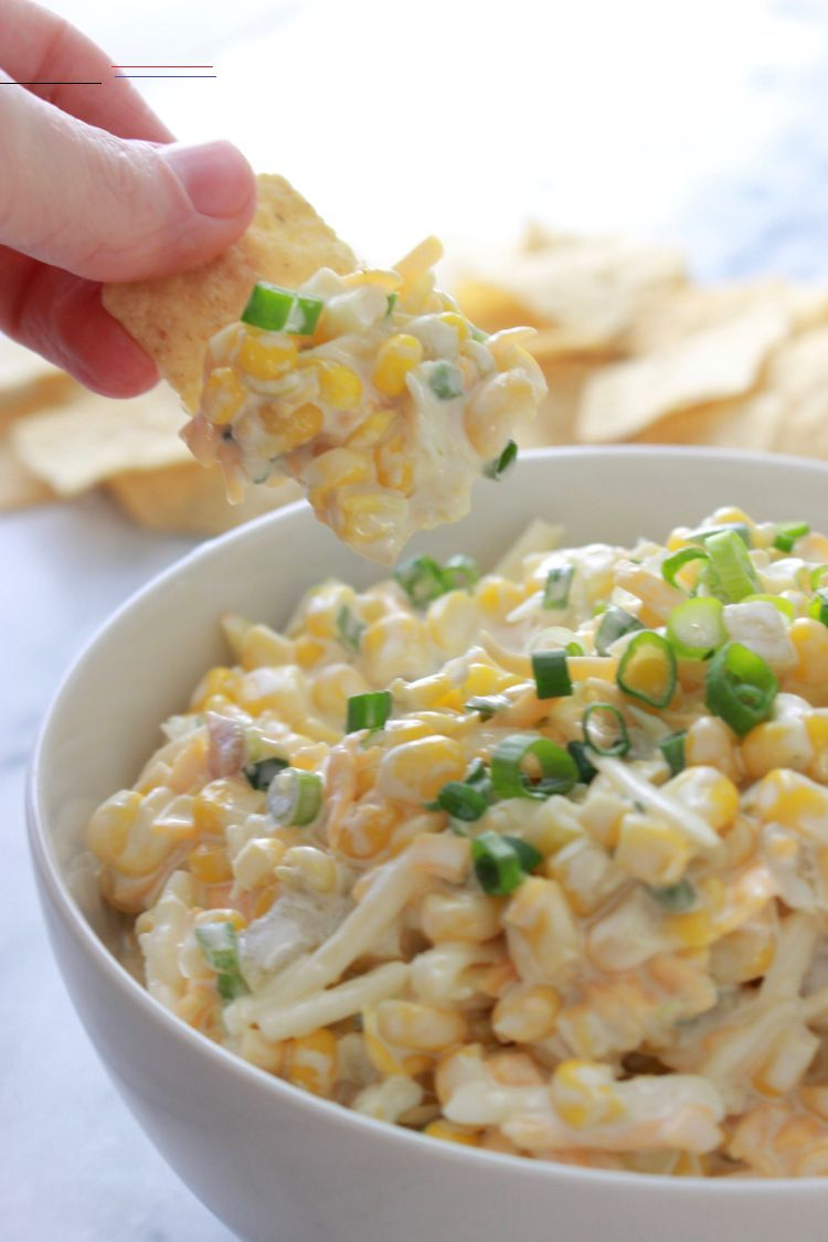 Creamy Mexican Corn Dip Mandy Jackson Tailgatefoodmakeahead Be Still My Midwestern Heart This Dip Has Corn And Sour Cream And Mayonnaise And Lots Of Shr In 2020