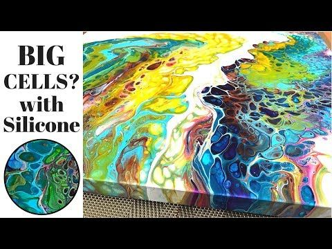 Fluid Painting 3 Different Acrylic Pours With And Without