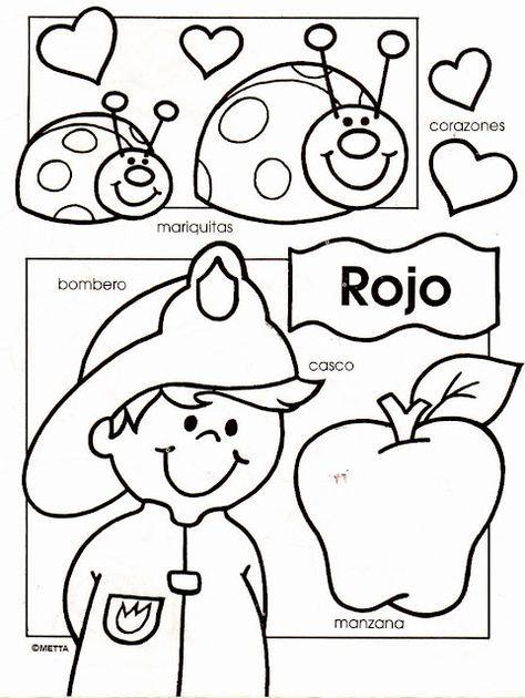 Spanish colors - Dibujos infantiles con los colores escritos para ...