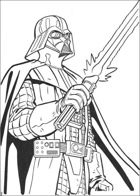 coloring page Star Wars Darth