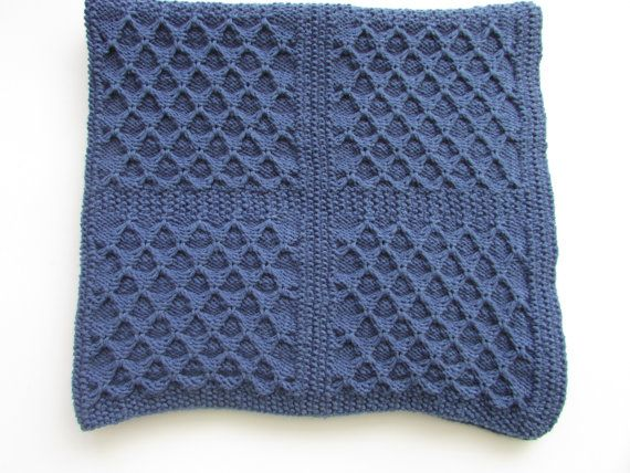 Baby Blanket knitting Pattern - Dimple Squares Baby Blanket - Unisex ...