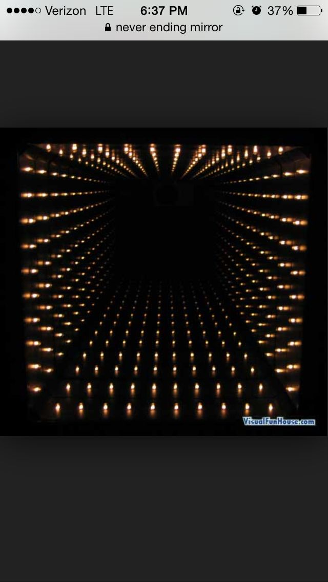 Never Ending Mirror Optical Illusions Light Tunnel Infinity Lights