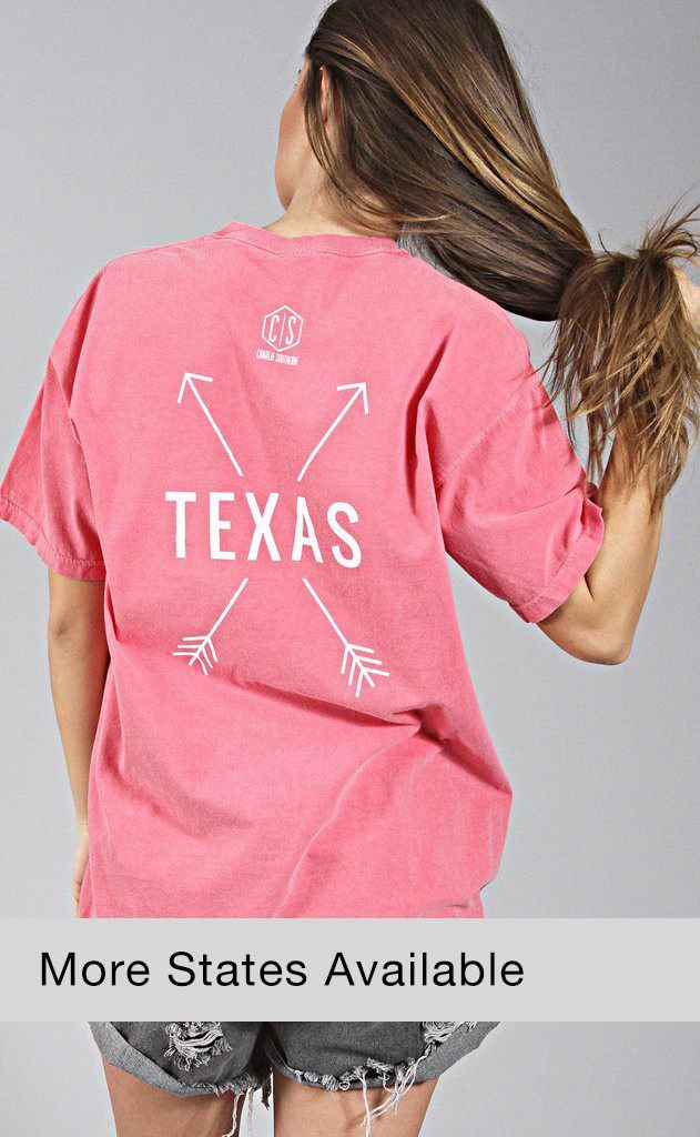 42909b7e charlie southern: state arrow comfort colors t shirt (MORE STATES AVAILABLE)