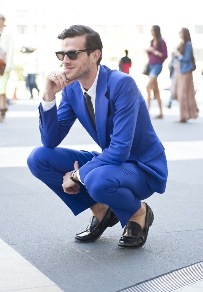 Love the blue suit. #mensfasion #nosocks #suit | Men's Wear ...