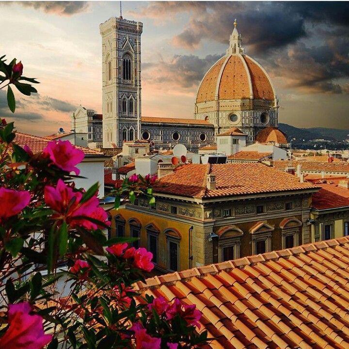 Firenze - cupola del duomo vista dalla terrazza della rinascente ...